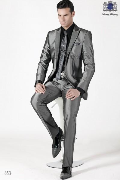 Italian emotion gray men wedding suit style 853 Ottavio Nuccio Gala