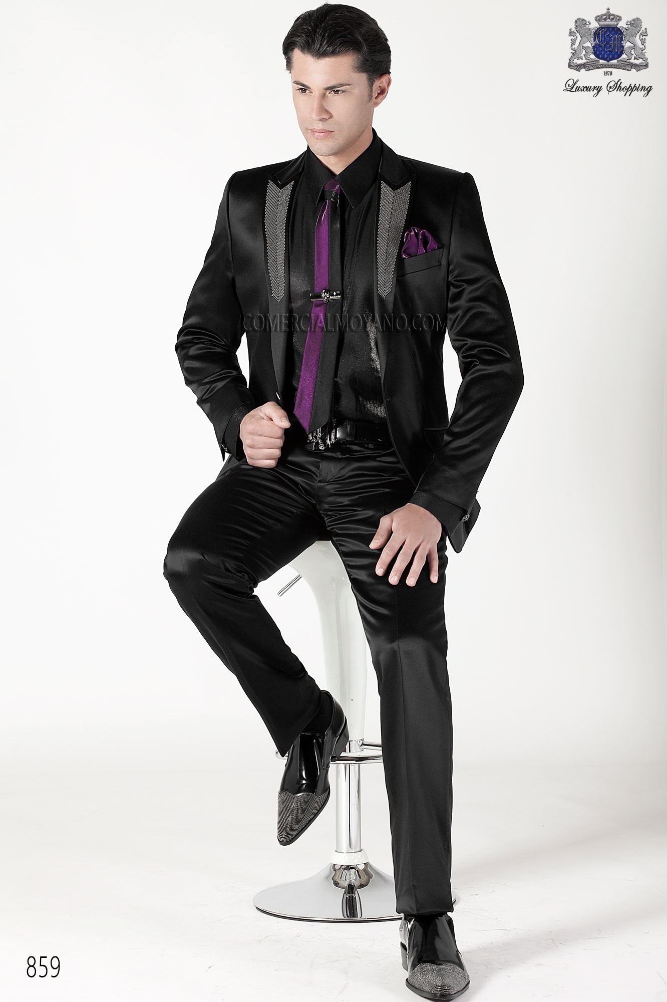 Emotion black men wedding suit model 859 Ottavio Nuccio Gala