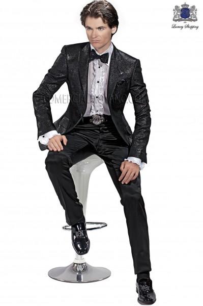 Italian emotion black men wedding suit style 60435 Ottavio Nuccio Gala