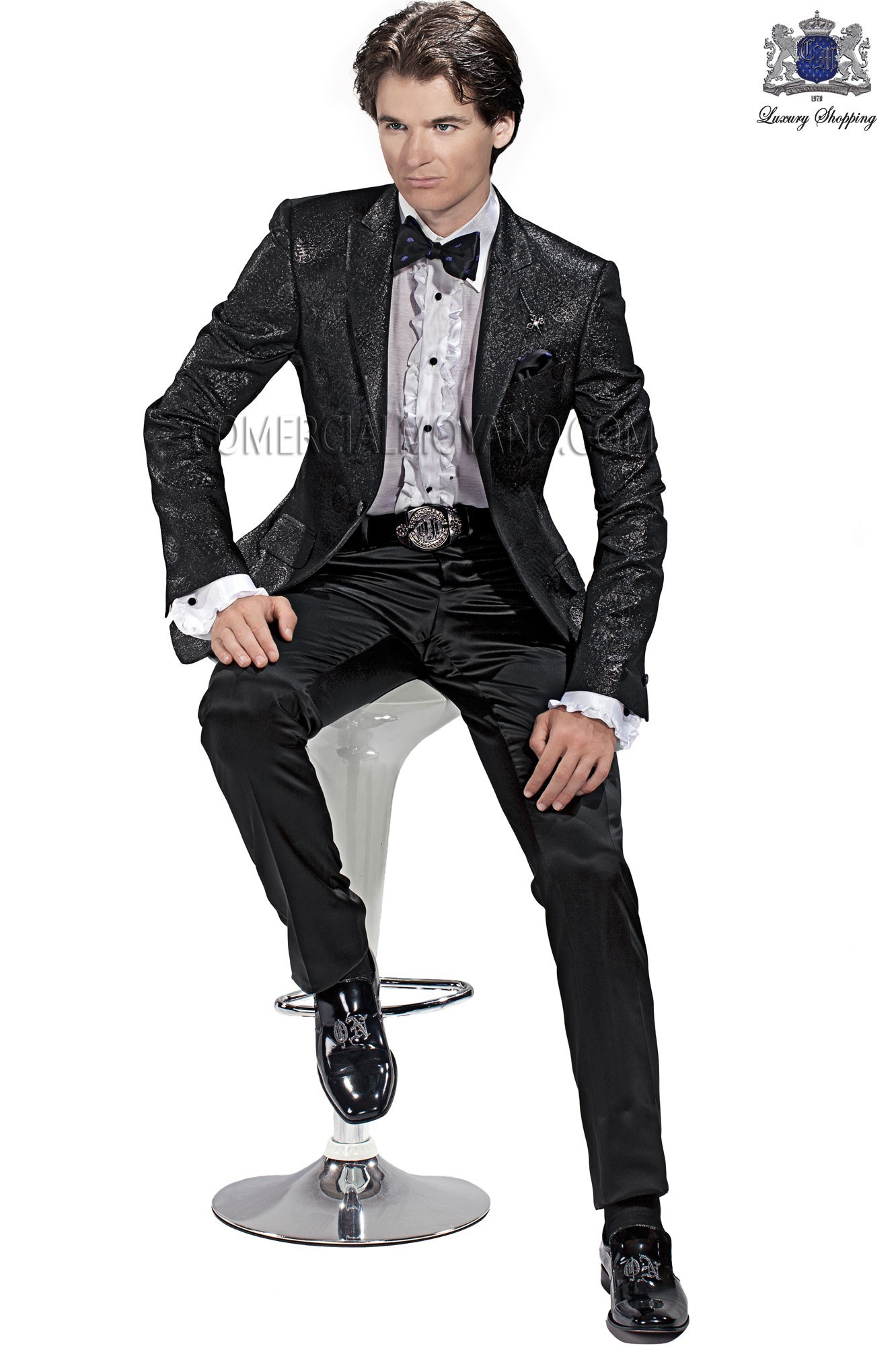 Emotion black men wedding suit model 60435 Ottavio Nuccio Gala