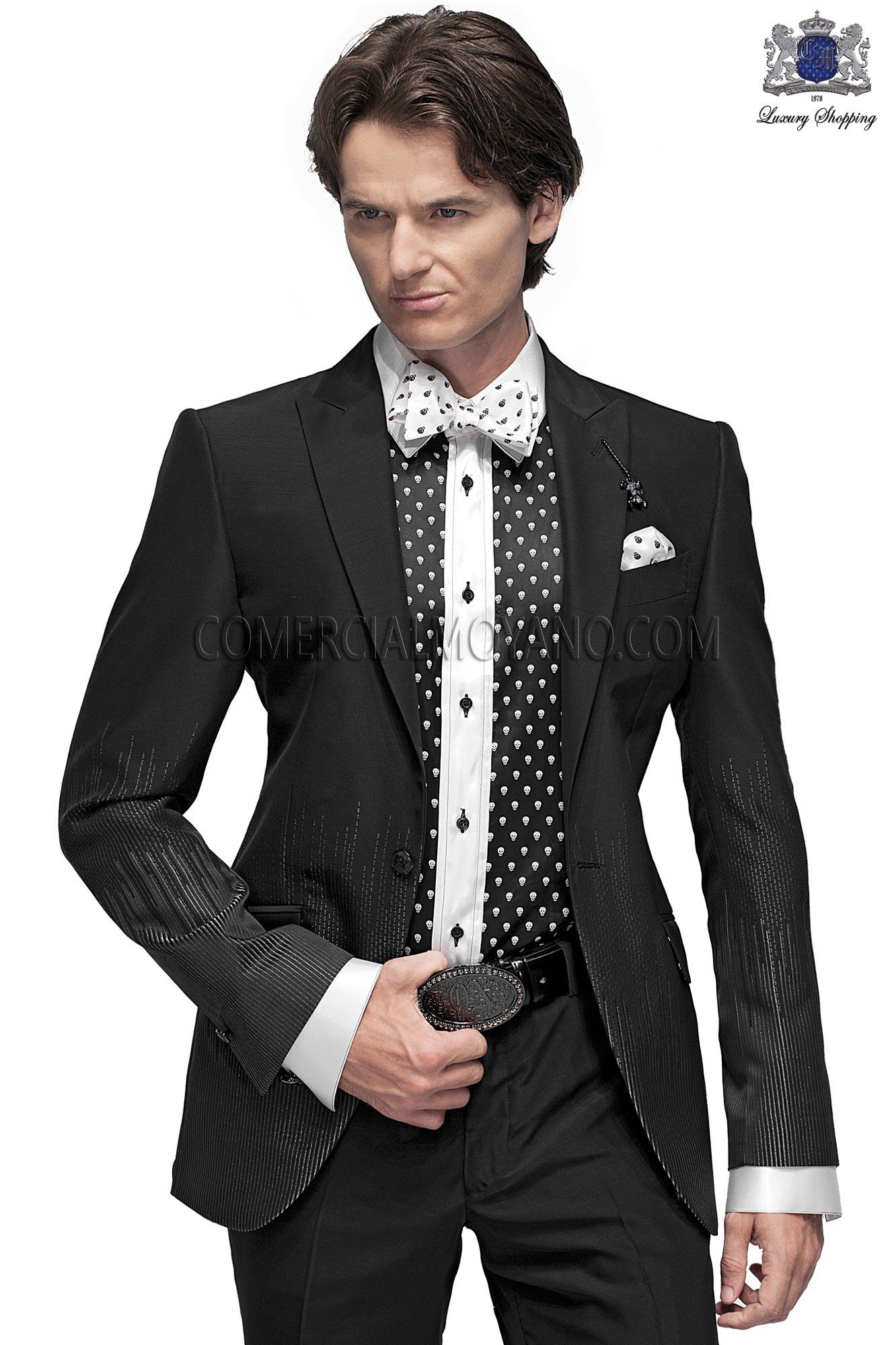 Emotion black men wedding suit model 60766 Ottavio Nuccio Gala