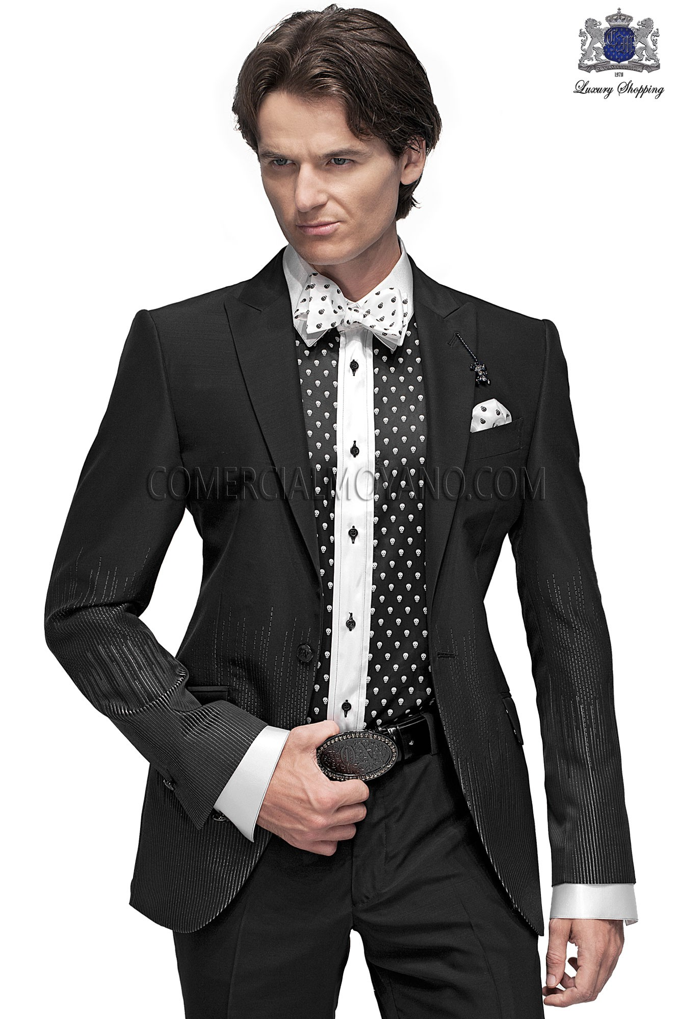 Italian brocade men fashion suit, Ottavio Nuccio Gala.
