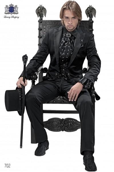 Traje de novio moderno negro modelo 702 colección Emotion Ottavio Nuccio Gala