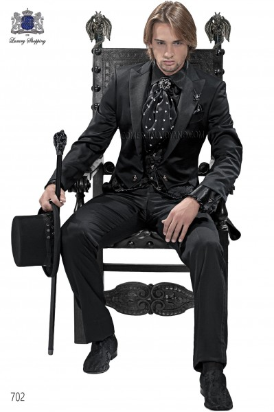 Italian black men fashion tailcoat 702 Ottavio Nuccio Gala