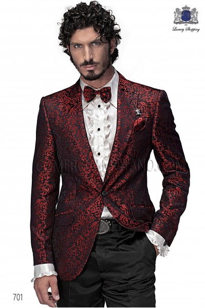 Italian emotion red men wedding suit style 701 Ottavio Nuccio Gala