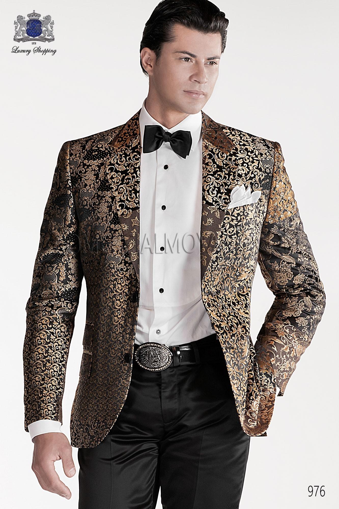 Traje de moda hombre negro/oro modelo: 976 Ottavio Nuccio Gala colección Emotion