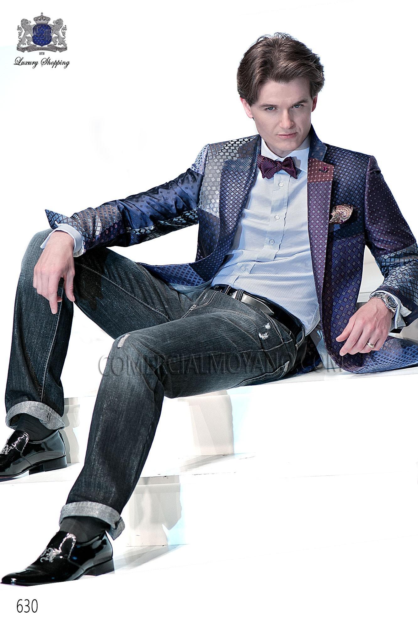 Emotion blue men wedding suit model 630 Ottavio Nuccio Gala