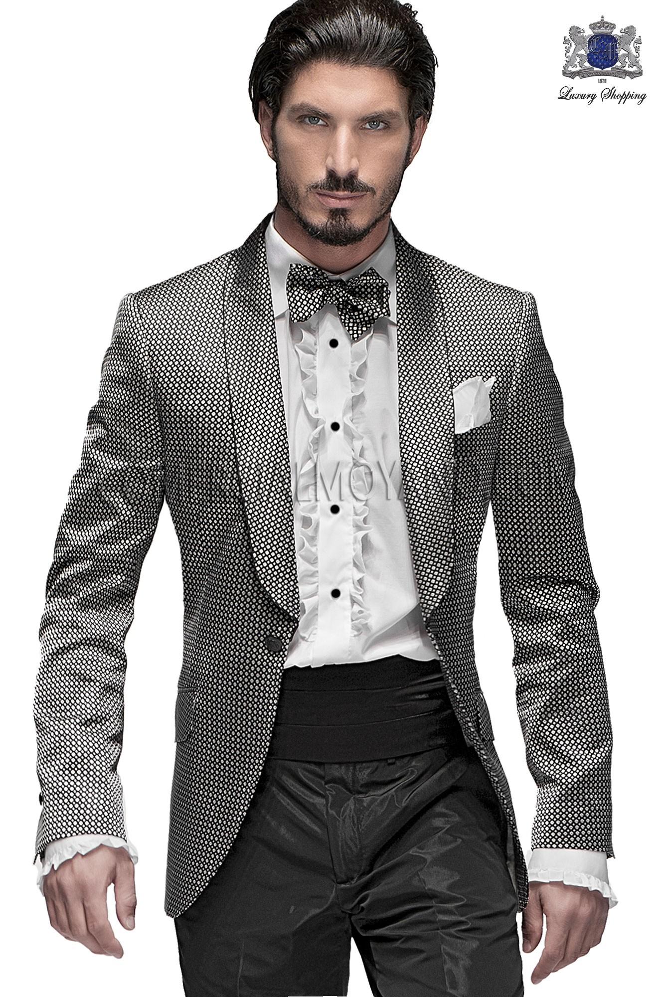 Emotion silver/ black men wedding suit model 60963 Ottavio Nuccio Gala