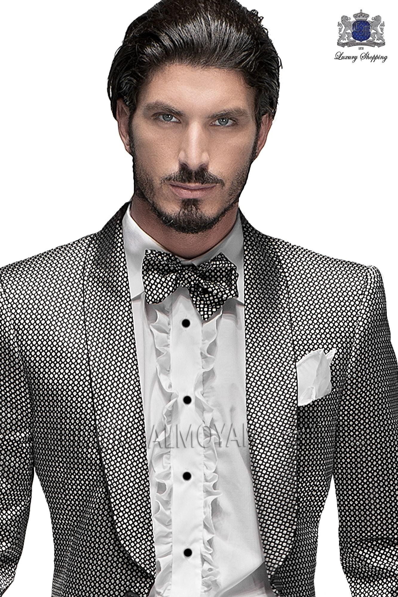 Italian emotion silver/ black men wedding suit, model: 60963 Ottavio Nuccio Gala Emotion Collection