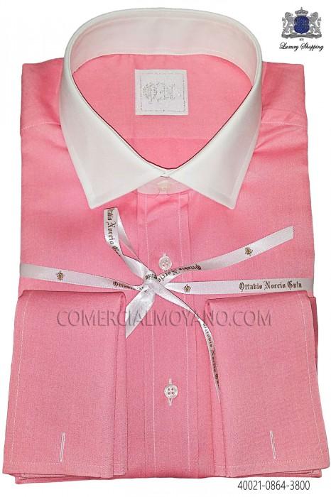 Pink cotton shirt 40021-0864-3800 Ottavio Nuccio Gala.