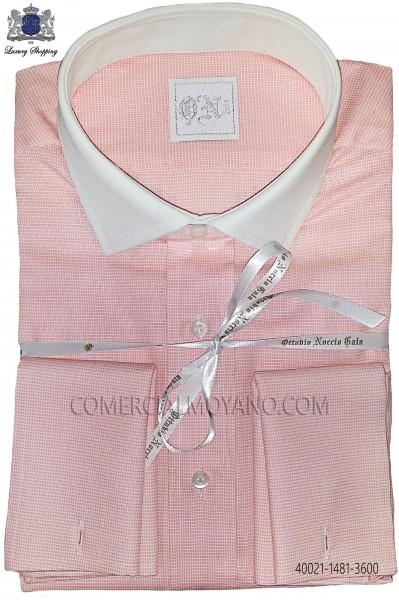 Orange cotton shirt 40021-1481-3600 Ottavio Nuccio Gala.