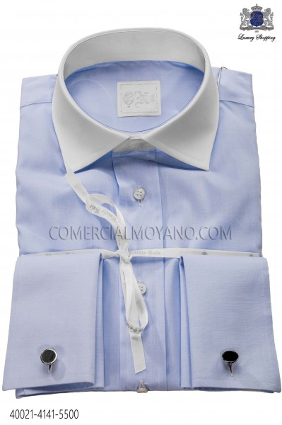 Camisa de algodón celeste 40021-4141-5500 Ottavio Nuccio Gala.