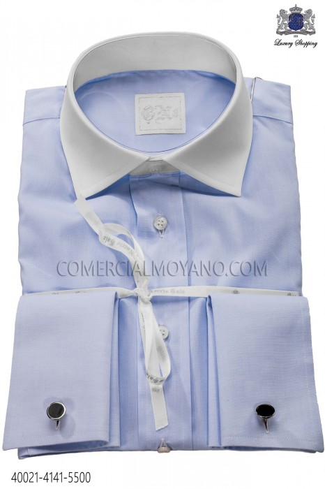 Light Blue Cotton Shirt 40021-4141-5500 Ottavio Nuccio Gala.