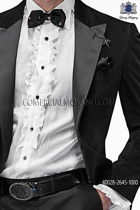 White shirt lurex with ruffles 40028-2645-1000 Ottavio Nuccio Gala.
