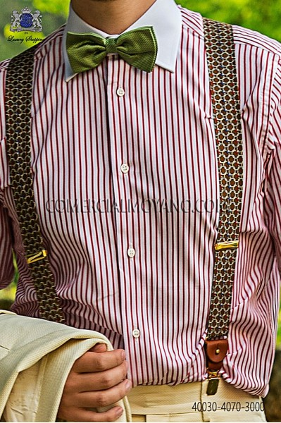 Red striped cotton shirt 40030-4070-3000 Ottavio Nuccio Gala.