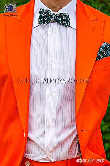 Orange striped cotton shirt 40030-4071-2900 Ottavio Nuccio Gala.