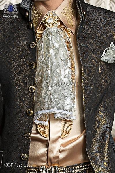 Golden shirt with beige drako embroidery 40041-1328-2020 Ottavio Nuccio Gala.