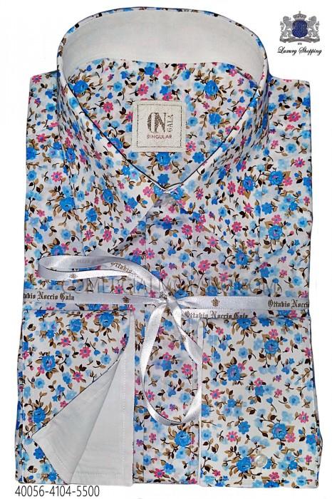 Blue liberty with white cuff 40056-4104-5500 Ottavio Nuccio Gala.