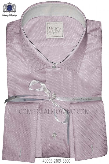 Pink plain cotton shirt 40095-2109-3800 Ottavio Nuccio Gala.
