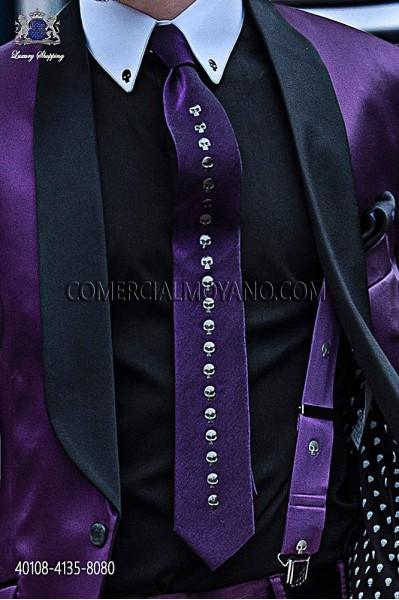 Camisa de algodón negra 40108-4135-8080 Ottavio Nuccio Gala.