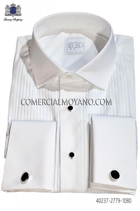 White Pleated Bib Tuxedo Shirt 40237-2779-1080 Ottavio Nuccio Gala.