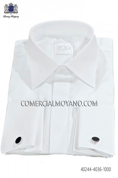 White Cotton Shirt 40244-4036-1000 Ottavio Nuccio Gala.
