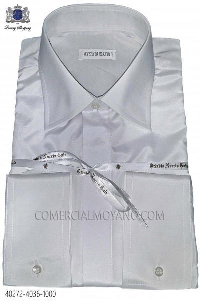 Dress white cotton shirt 40272-4036-1000 Ottavio Nuccio Gala.