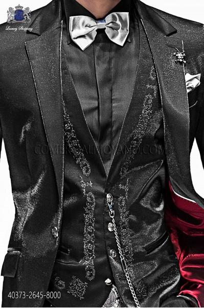 Black lurex shirt 40373-2645-8000 Ottavio Nuccio Gala.