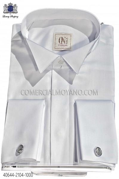 White plain cotton shirt 40644-2104-1000 Ottavio Nuccio Gala