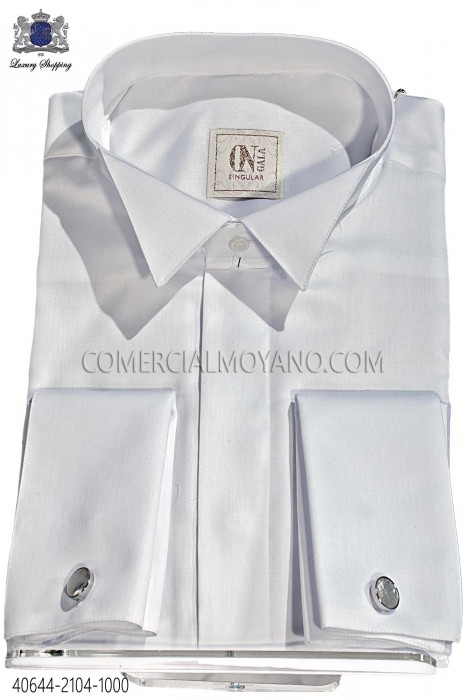 White plain cotton shirt 40644-2104-1000 Ottavio Nuccio Gala
