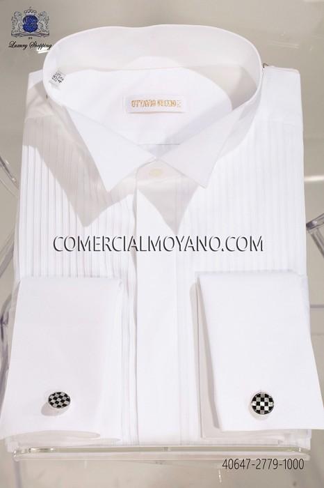 White pleated bib wing collar 40647-2779-1000 Ottavio Nuccio Gala.