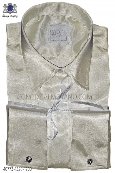 Ecru satin shirt 40773-1328-1200 Ottavio Nuccio Gala.