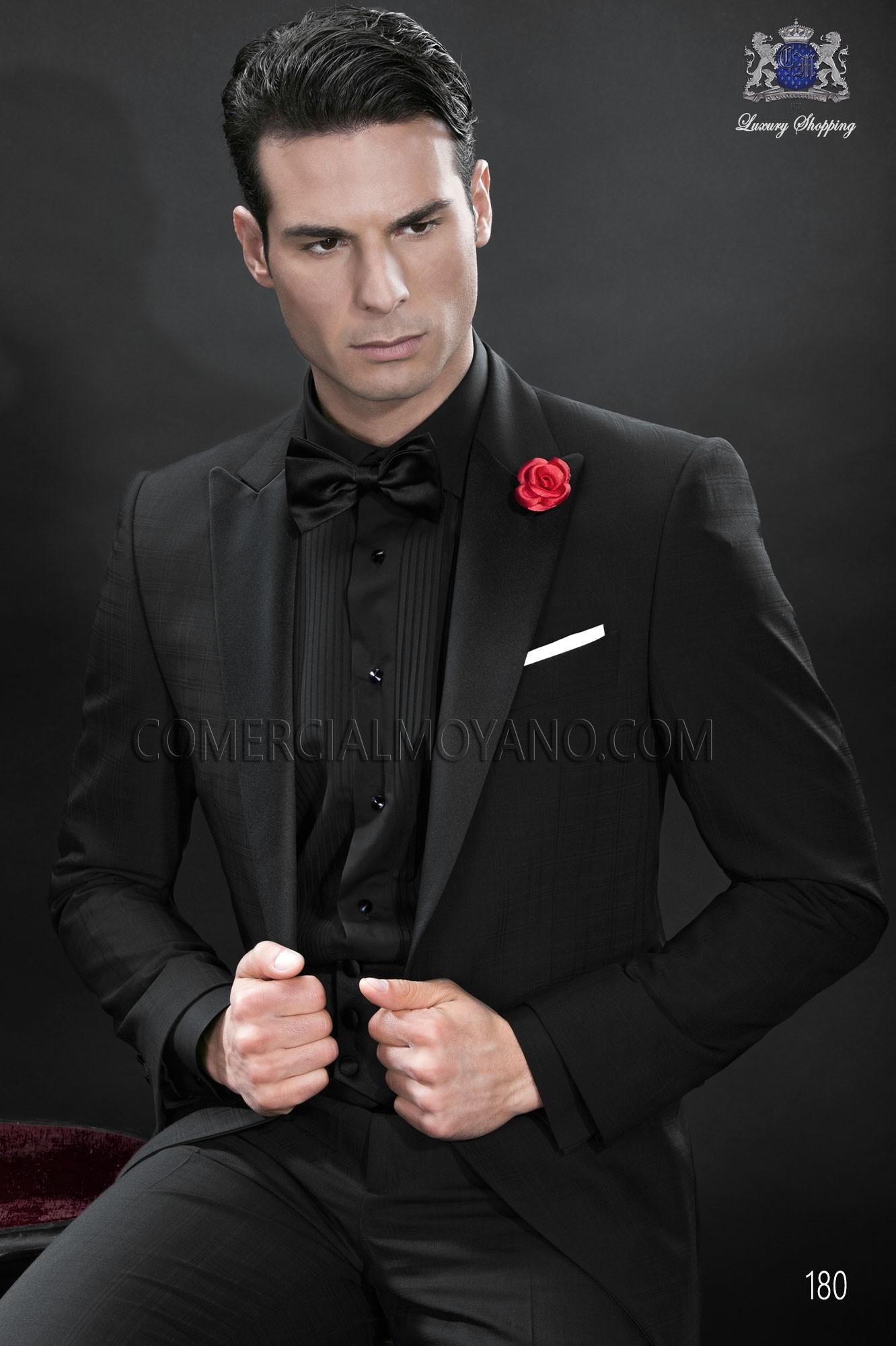 Italian bespoke tuxedo black wedding suit style 180 Ottavio Nuccio ...