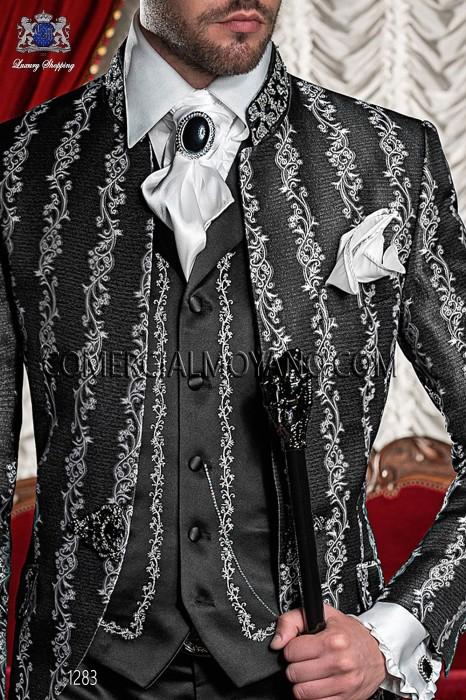White satin ruffled shirt 40466-1328-1000 Ottavio Nuccio Gala.