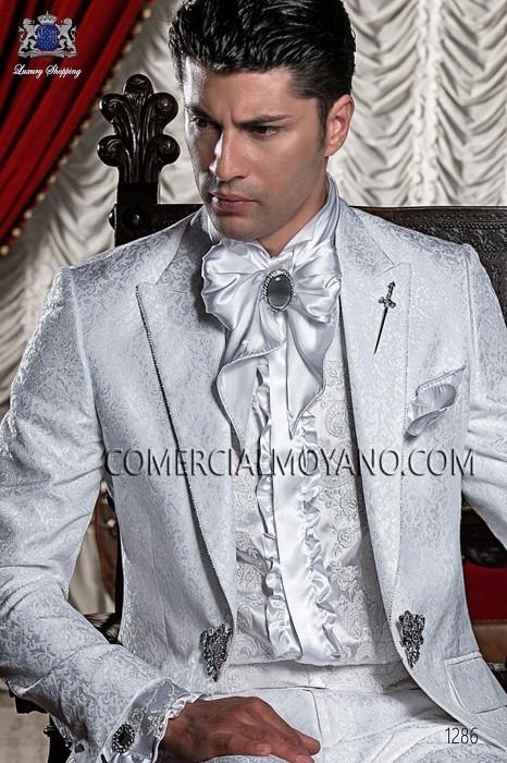 White shirt with floral embroidery 40005-4100-1015 Ottavio Nuccio Gala.