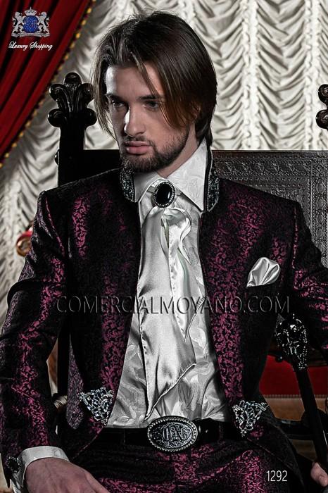 Ivory jacquard shirt 40173-2785-1200 Ottavio Nuccio Gala.