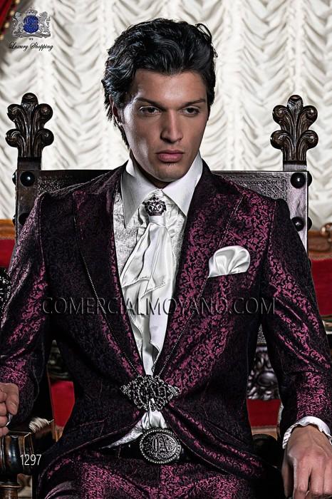 Ivory satin ruffled shirt 40467-4039-1200 Ottavio Nuccio Gala.