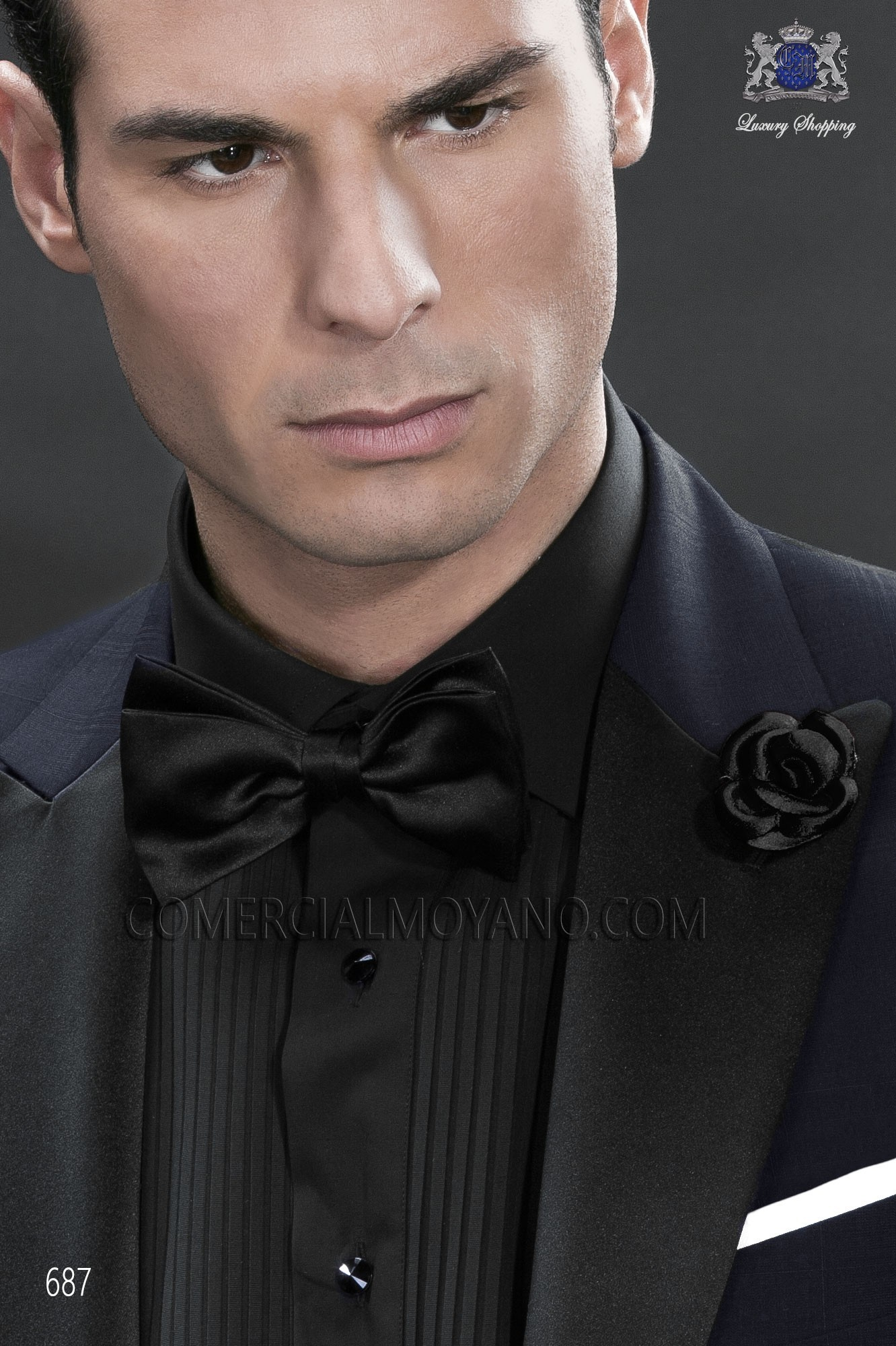 Italian blacktie blue men wedding suit, model: 687 Ottavio Nuccio Gala Black Tie Collection