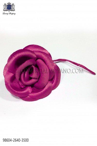 Fuchsia satin lapel flower pin 98604-2640-3500 Ottavio Nuccio Gala.