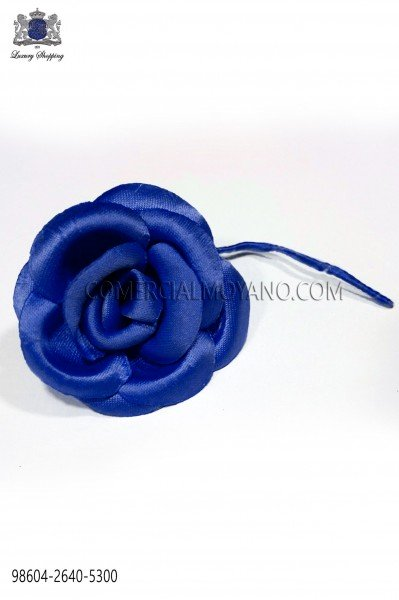 Royal blue satin flower 98604-2640-5300 Ottavio Nuccio Gala.