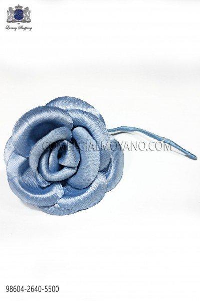 Sky blue satin flower 98604-2640-5500 Ottavio Nuccio Gala.
