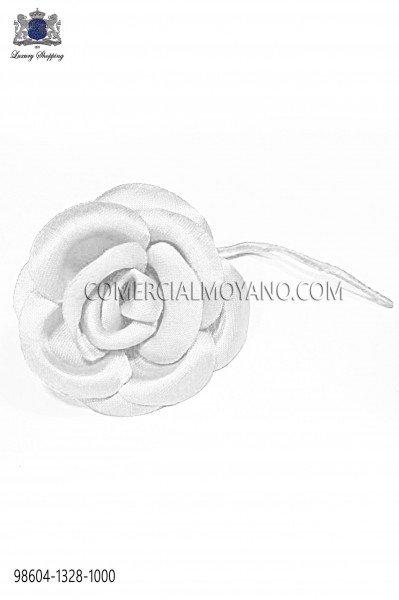 Optical white satin flower 98604-1328-1000 Ottavio Nuccio Gala.