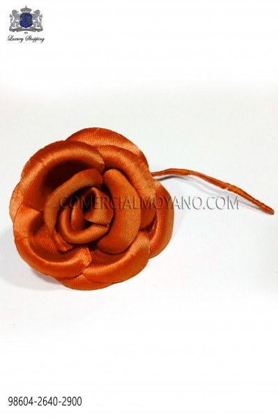 Orange satin flower 98604-2640-2900 Ottavio Nuccio Gala.
