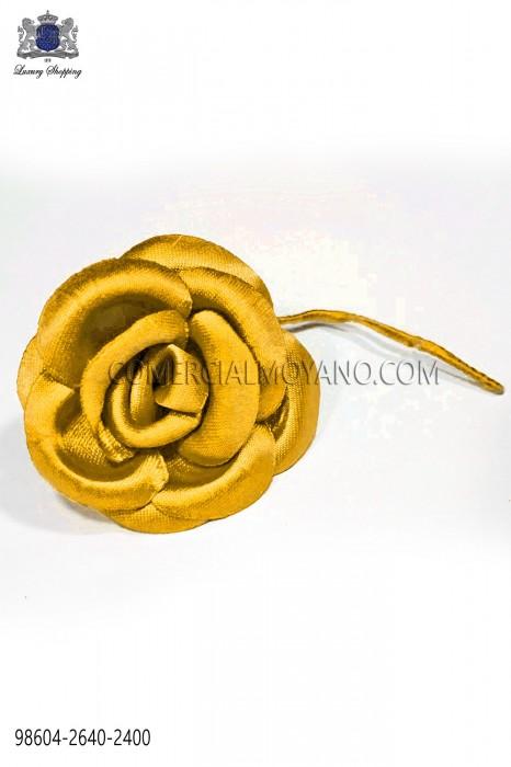 Gold-tone satin flower 98604-2640-2400 Ottavio Nuccio Gala.