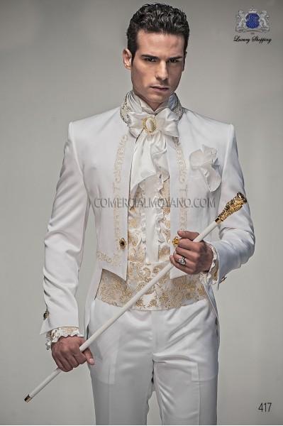 Traje de novio barroco blanco modelo 417 Ottavio Nuccio Gala colección Barroco
