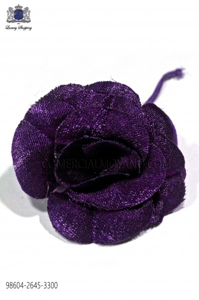 Purple lapel flower pin 98604-2645-3300 Ottavio Nuccio Gala.