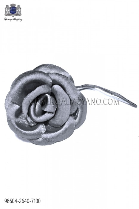 Steel gray satin flower 98604-2640-7100 Ottavio Nuccio Gala.