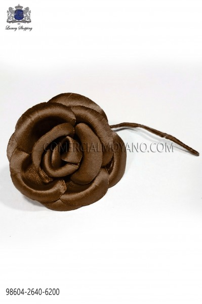 Brown satin flower 98604-2640-6200 Ottavio Nuccio Gala.