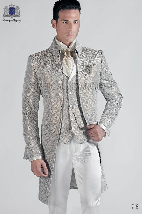 Italian gray-gold wedding suit