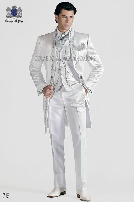 Italian white wedding suit